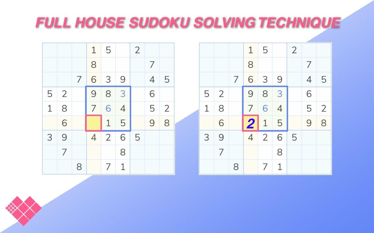 sudoku boards demonstrating full house